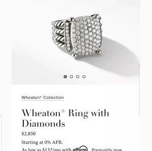 David yurman pave diamond ring 12×16mm